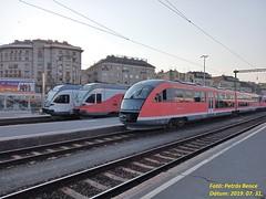 H-Start 426 024 (6342 024-4) SIEMENS Desiro + 415 051 (5341 051-1) + 415 103 STADLER FLIRT Budapest-Déli pu., 2019. 07. 31.