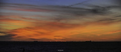 Surreal Stunning SprayPainted Sky Summer Sunset Seaside Scene (SOOC) Panorama - IMRAN™