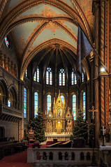 The High Altar - interior of the St. Matthias Church in Budapest