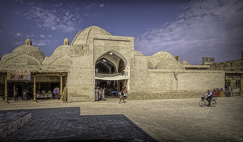 Ukbekistan: Bukhara, as the bazaar comes to life.