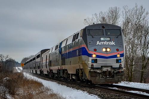 Amtrak 184 flyby