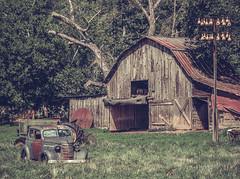 Old Car and Barn