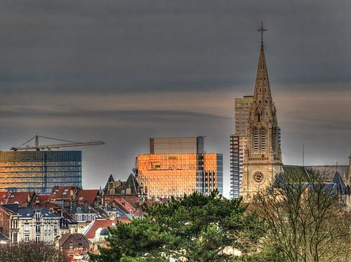 L'Église Saint Servais et une partie du centre de Bruxelles - Saint Servais Church and part of the center of Brussels
