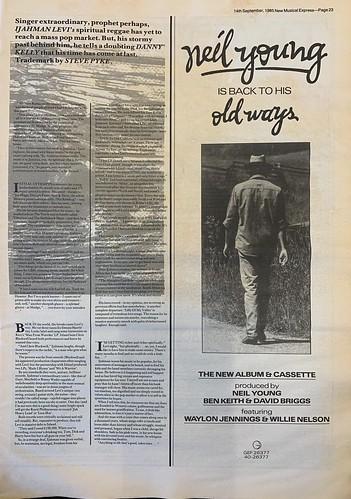 NME, 14 September 1985. #NME  #MyLifeInTheUKMusicPress #1985