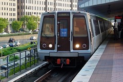 Blue Line train arriving at King Street station