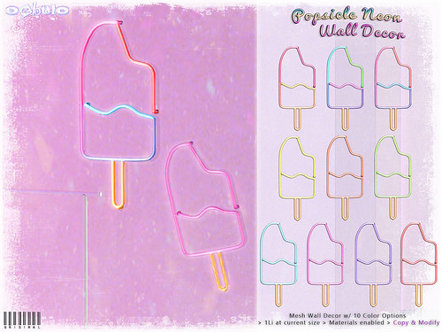 [ bubble ] Popsicle Neon Wall Decor