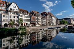 Strasbourg, les quais, reflets