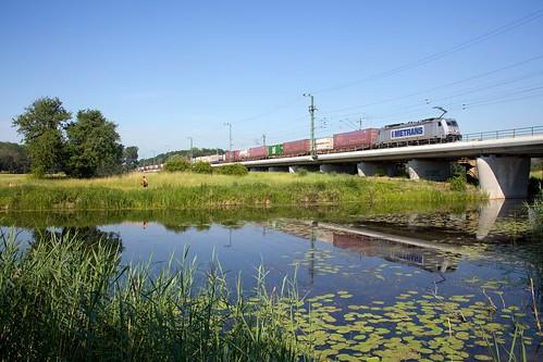 Metrans 386 006 + Güterzug/goederentrein/freight train  - Biederitz