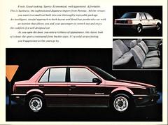 1986 Pontiac Sunburst Sedan (Canada)