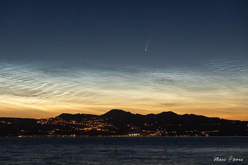 La comète Neowise et les nuages noctulescents