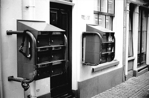 Mailboxes adjusted to old streets in Deventer