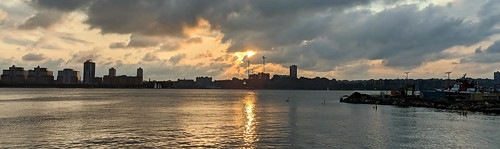 Hudson Sunset Panorama