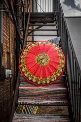 Umbrella on the Stairs – College Park, Georgia