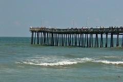 Virginia Beach Fishing Pier from the beach