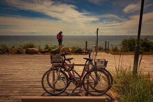 Mit dem Fahrrad die Küste entlang...