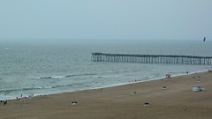 Virginia Beach Fishing Pier on a rainy afternoon