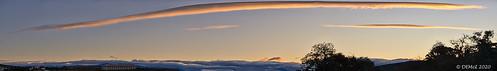 Wave cloud at sunset
