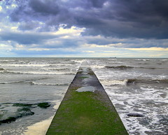 Walkway out to sea