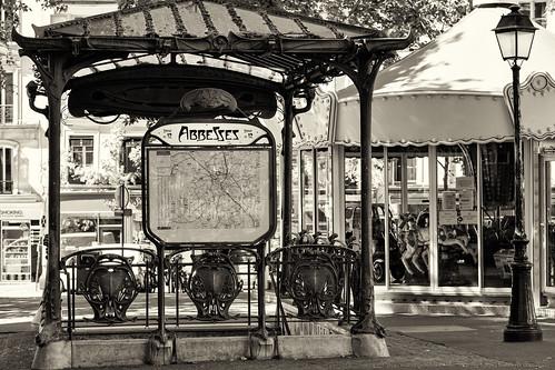 Métro Abbesses, 1900 à Montmartre