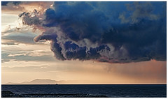 rain clouds over the Salish Sea