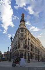 Enamorados en el centro de Madrid
