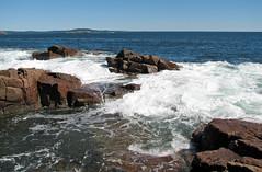 Rocky shore & waves (next to Thunder Hole, Mt. Desert Island, Maine, USA) 26