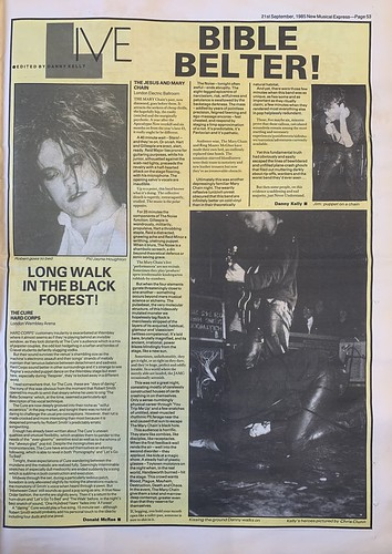 NME, 21 September 1985. #NME  #MyLifeInTheUKMusicPress #1985