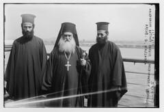 Archdeacon Anthony Baehir [i.e. Bashir], Archimandrit V. Abouasly and Archb. [i.e. Archbishop] G. Messarra (LOC)