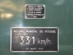 BB9004 record plate -BB9004 Bo-Bo 1950s electric loco - World Speed Record Holder