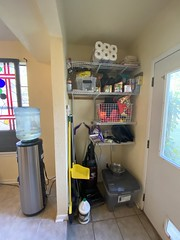 Shelving/utility space by back door
