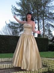 Golden gown garden girl