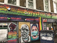 Work at Barry's Food Store, Barry Road, Dulwich