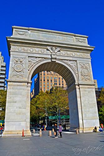 The Arch in Washington Square Park Greenwich Village Manhattan New York City NY P00585 DSC_0892