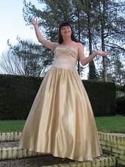 Satin ballgown lady