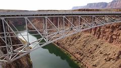 Arizona - Marble Canyon:  Navajo Bridge crossing Colorado River