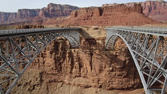Arizona - Marble Canyon: Navajo Bridge - left the new (1995 built) and on the right the old one (1929 built)