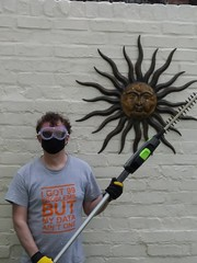 Covid-19 Apocalypse Warrior (Hedging Division) with Staff Weapon