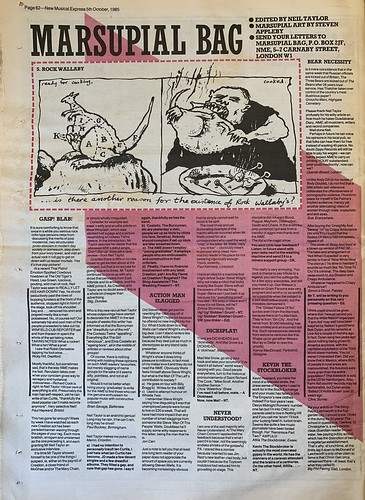 NME, 5 October 1985. #NME  #MyLifeInTheUKMusicPress #1985