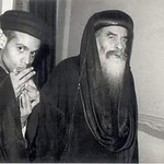 القمص أشعياء ميخائيل بباوي مع قداسة البابا كيرلس السادس