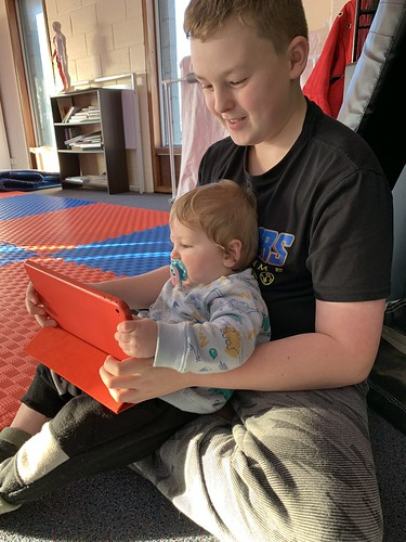 Cooper helping out at Hapkido