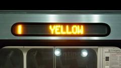 """YELLOW"" on destination sign"
