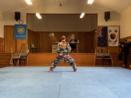 In Palmerston North to watch a Hapkido grading