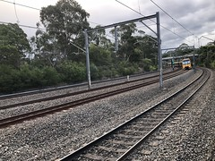 Sydney's main northern line at West Ryde