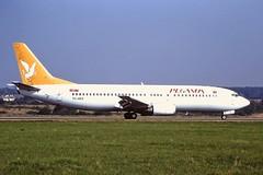 TC-AFZ Boeing 737-400 Pegasus Luton 04-09-99