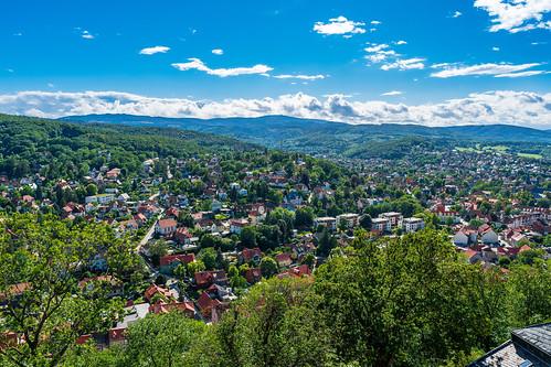 Wernigerode: Blick vom Schloss ins Tal
