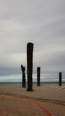 Totems on the beach....