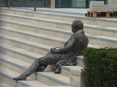 Return to Paradise in Chamberlain Square - Thomas Attwood statue