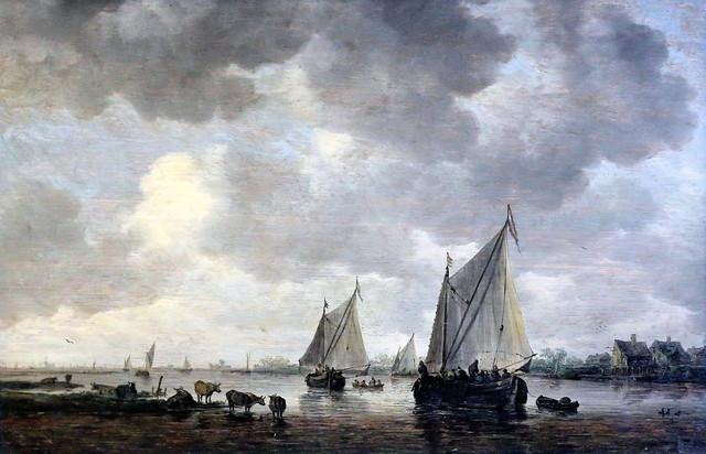 Photo:IMG_0429AC Jan van Goyen 1596-1656 Leiden La Haye Un canal en Hollande   A canal in Holland Louvre By jean louis mazieres