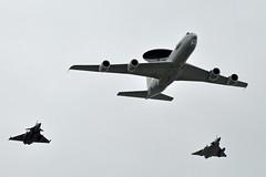 F-ZBCC BOEING 707 E-3F AWACS - RAFALE 30e ESCADRE DE CHASSE - MIRAGE 2000-5 GC 1/2 CIGOGNES