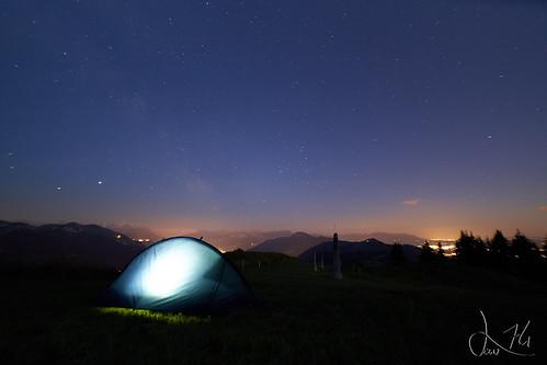 Voie Lactée au dessus de ma tente (Pointe de Miribel)